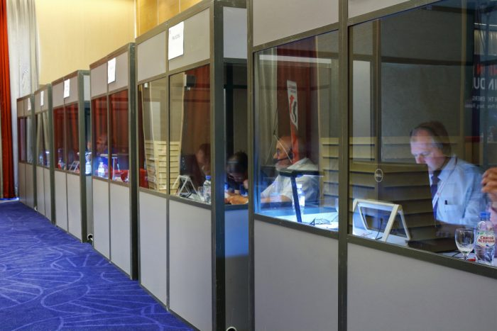 portable interpreting booths